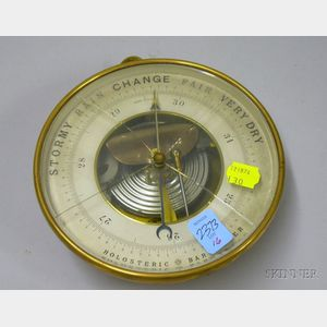 French Brass Holosteric Barometer