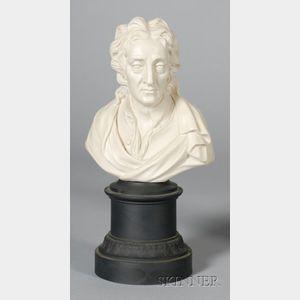 Turner White Stoneware Bust of John Locke