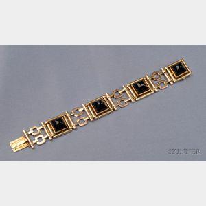 14kt Bicolor Gold and Onyx Bracelet