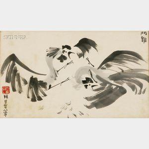 Chen Chi-Kwan (Chinese, 1921-2007)      Cockfight
