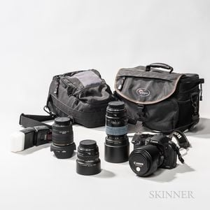 Group of Mostly Canon Optical Equipment