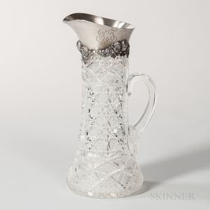 Tiffany & Co. Sterling Silver-mounted Cut Glass Pitcher