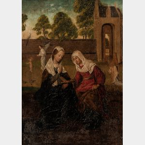 Northern European School, 16th Century Style      The Visitation
