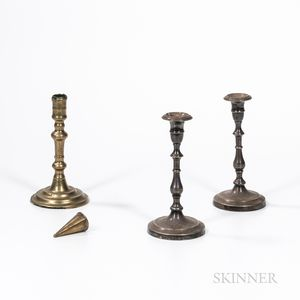 Three Candlesticks and a Dousing Cone