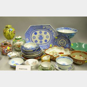 Approximately Thirty-nine Pieces of Asian Decorated Porcelain Tableware