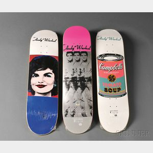 After Andy Warhol (American, 1928-1987)      Three Skate Decks from the Alien Workshop.