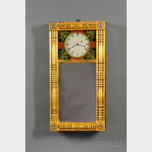 Pine Empire Mirror Clock Attributed to Tappan