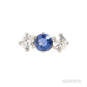 Art Deco Platinum, Sapphire, and Diamond Ring, Tiffany & Co.