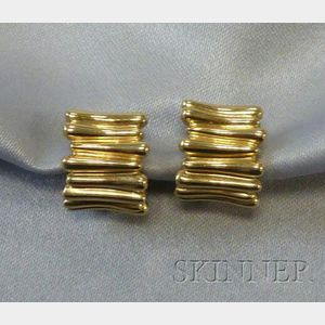 18kt Gold Earpendants, Tiffany & Co.