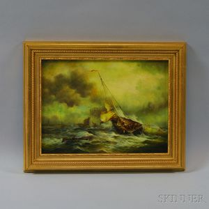 British School, 19th Century Style      Rough Seas