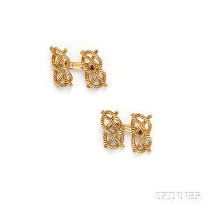 18kt Gold Cuff Links, Ralph Lauren, Tiffany & Co.