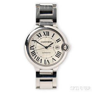 "18kt White Gold ""Ballon Bleu"" Wristwatch, Cartier"