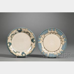 Two Saturday Evening Girls Pottery Children's Plates
