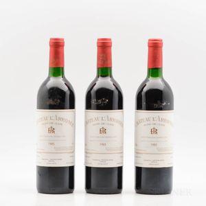 Chateau LArrosee 1985, 3 bottles
