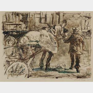 Albert Gold (American, 1916-1972)      The Horse Cart