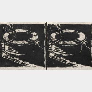 Three Works:      Richard Bosman (American, b. 1944), Untitled (Cigarette and Ashtray)/A Diptych