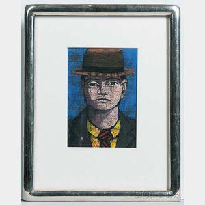 Aaron Fink (Massachusetts, b. 1955)      Man in a Fedora