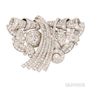 Art Deco Platinum and Diamond Dress Clips