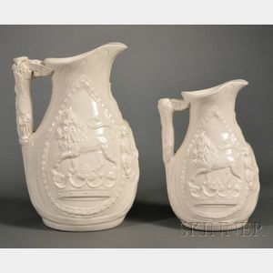 Two Josiah Wedgwood Commemorative Jugs