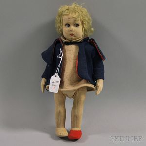 Small Felt Lenci Girl Doll
