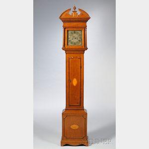 Thomas Mason Bucks Inlaid Oak Longcase Clock