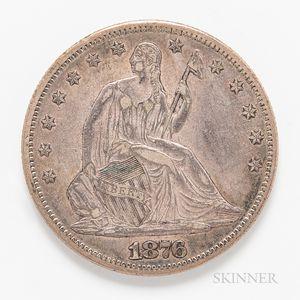 1876-CC Seated Liberty Half Dollar