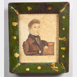 American School, 19th Century    Miniature Portrait of Moses Waterhouse Esquire.
