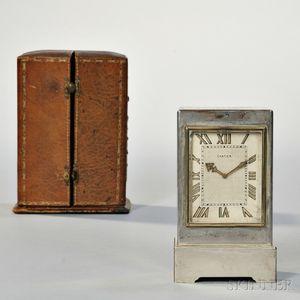 Cartier Silver Desk Clock