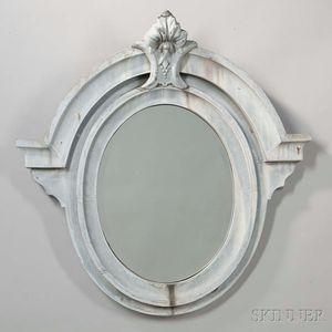 Painted Ocular-style Zinc Mirror