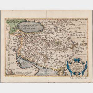 Persia. Abraham Ortelius (1527-1598) Persici sive Sophorum Regni Typus.