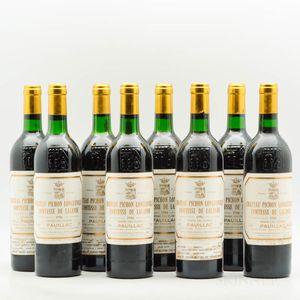 Chateau Pichon Lalande 1986, 8 bottles