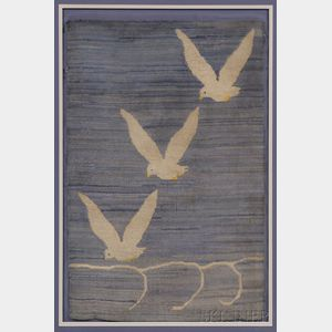 Grenfell Hooked Mat with Seagulls