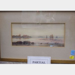 Lot of Six Framed Miscellaneous Works of Art