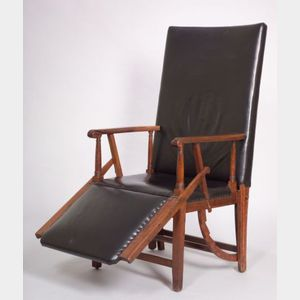 Federal Mahogany Adjustable Lolling Chair