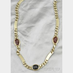 18kt Gold and Hardstone Intaglio Necklace