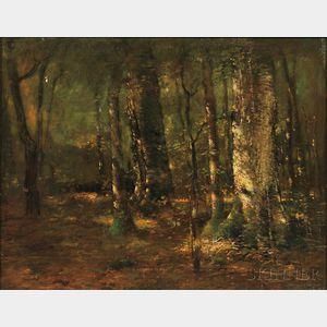 Paul Cornoyer (American, 1864-1923)      Woodland Landscape