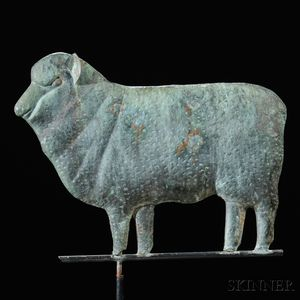 Molded Copper Ewe Weathervane