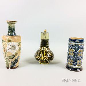 Three Doulton Lambeth Stoneware Items