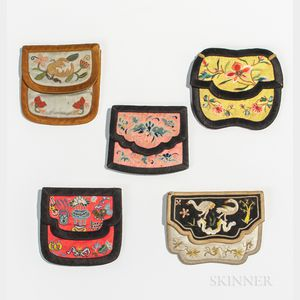 Five Embroidered Purses