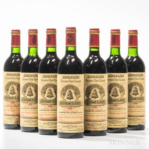 Chateau Angelus 1989, 7 bottles