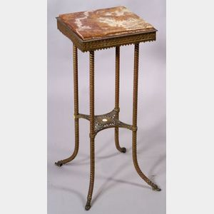 Renaissance Revival Moorish-style Gilt Metal and Onyx Stand