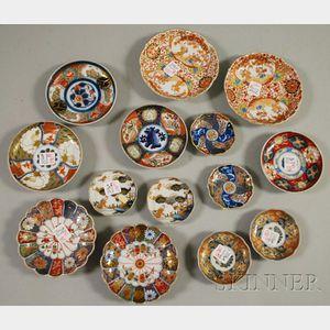 Fourteen Small Imari Porcelain Dishes