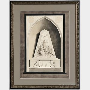 Large Paper Maquette for a Memorial to Admiral Lord Nelson