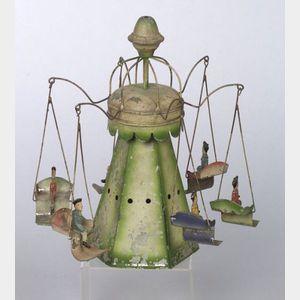 German Clockwork Tin Carousel