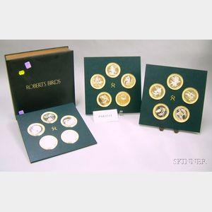 Set of Twenty-five Sterling Silver Commemorative Coins