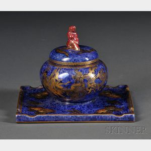 Wedgwood Lustre Inkwell and Cover