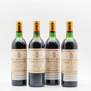 Chateau Pichon Lalande 1982, 4 bottles