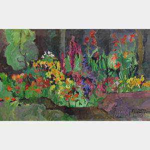 Gracia Dayton (American, 20th Century)      Flower Garden