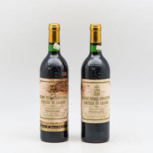 Chateau Pichon Lalande 1983, 2 bottles