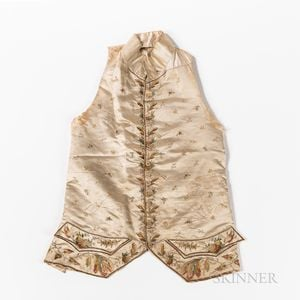 Embroidered Silk Waistcoat